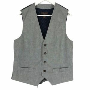 TASSO ELBA Gray Men's Vest Suit Fancy Small